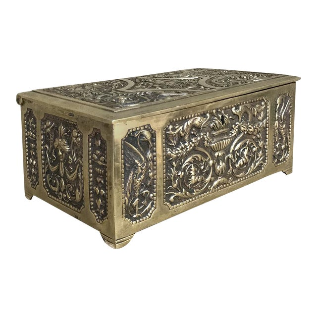 Jewelry Box, 19th Century French Renaissance, Cast in Bronze For Sale