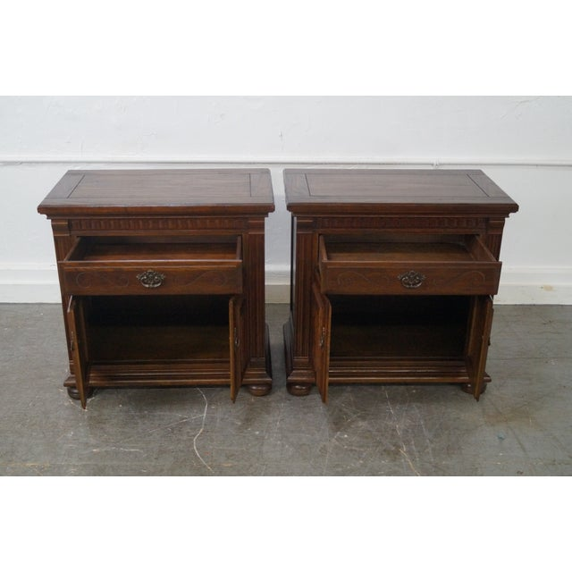 Ethan Allen Royal Charter Oak Nightstands Chests - A Pair - Image 8 of 10