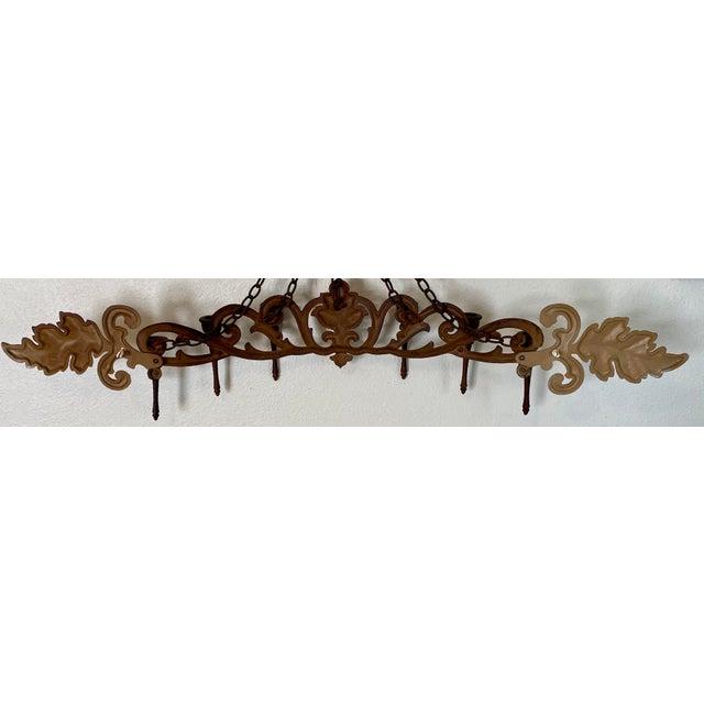 1970s Goldtone Hanging Candelabra For Sale In Saint Louis - Image 6 of 9