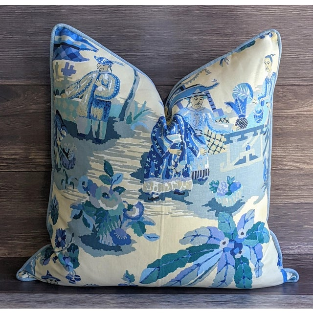 Brunschwig & Fils Kravet Xian by Brunschwig & Fils Chinoiserie Pillow Cover For Sale - Image 4 of 4