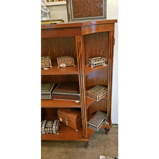 Black Pair of Sheraton Style Open Bookcases For Sale - Image 8 of 11