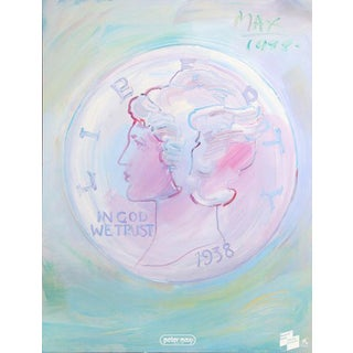 """1988 Peter Max """"In God We Trust"""" Poster For Sale"""