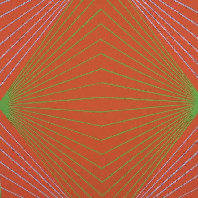 "Mid-Century Modern Richard Anuszkiewicz ""Diamond Chroma"" Screenprint in Colors, 1965 For Sale - Image 3 of 10"