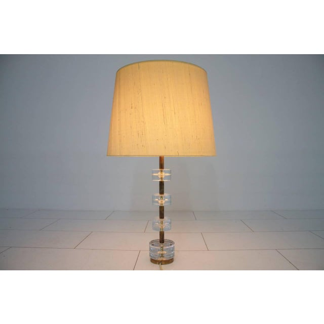 Brass and Glass Table Lamp by Luxus Sweden, Circa 1960s For Sale - Image 9 of 9