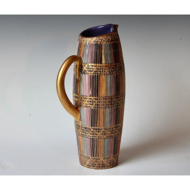 Aldo Londi Mid Century Bitossi Raymor Seta Italian Pottery Londi Pitcher For Sale - Image 4 of 13