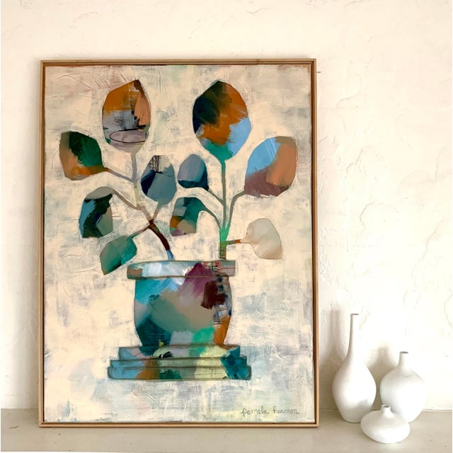 Contemporary Large Original Abstract Still Life Painting For Sale - Image 3 of 6
