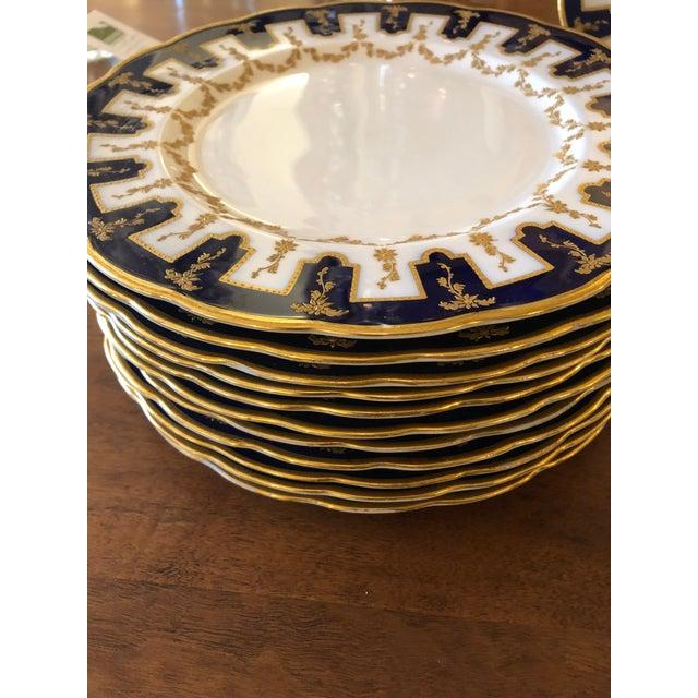 Traditional Vintage English Porcelain Dinner Plates -Set of 12 For Sale - Image 3 of 9