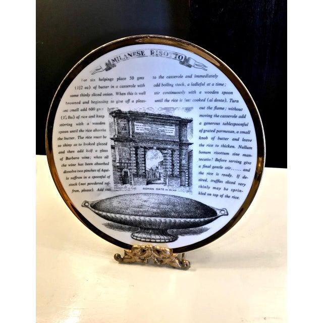 1960s Mid-Century Fornasetti Italian Recipe Plates For Sale - Image 5 of 11