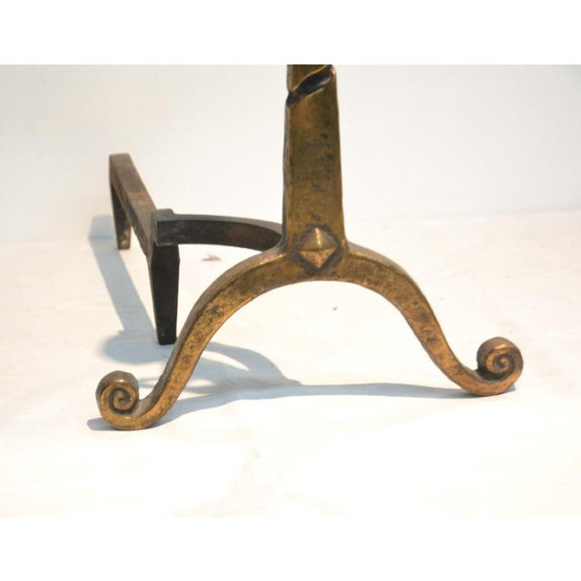 Pair of French Art Déco Andirons For Sale - Image 4 of 5