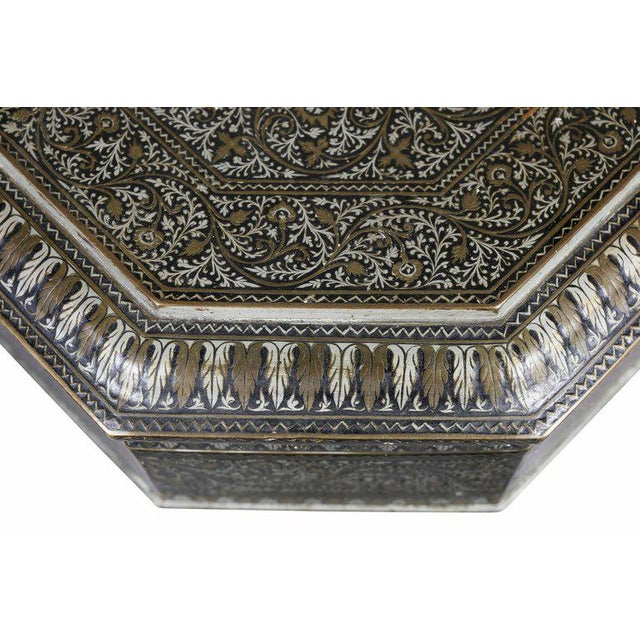 Indian Steel Koftgari Box For Sale - Image 4 of 10