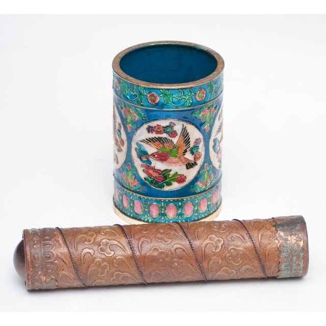 Vintage Peking Brush Pot & Kaleidoscope For Sale - Image 5 of 11