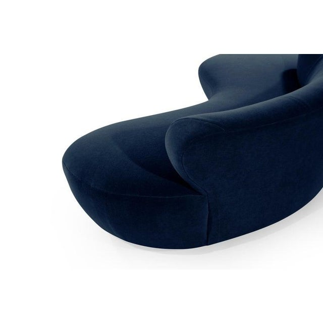 Blue Late 20th Century Mohair Cloud Sofa on Walnut Bases by Vladimir Kagan for Directional For Sale - Image 8 of 13
