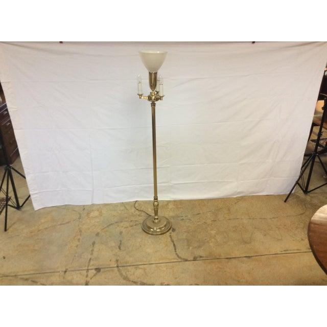Vintage Stiffel Brass Torchiere Floor Lamp Chairish