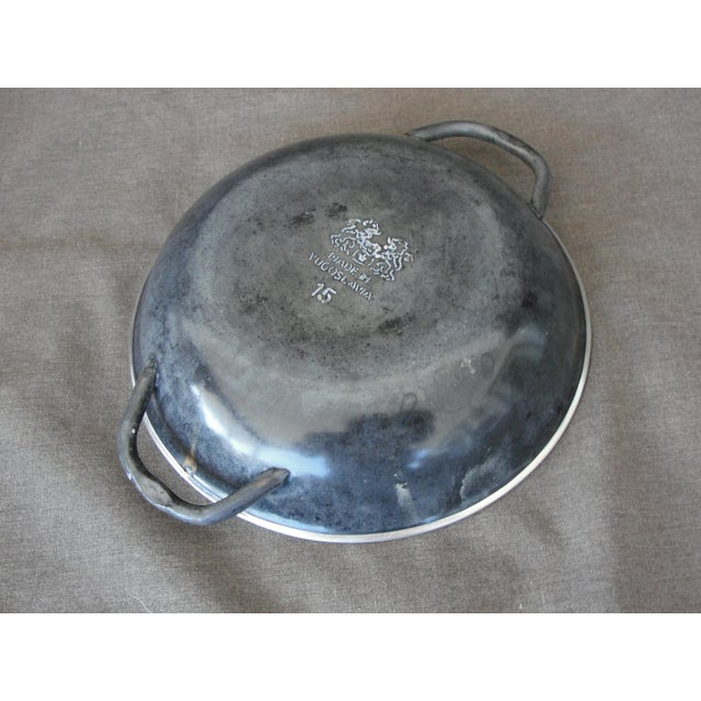 Enameled Steel Saute Pans - Set of 4 For Sale - Image 10 of 11