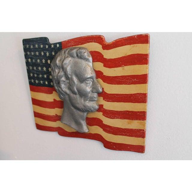 Early Folk Art 48-Star Original Painted Patriotic Parade Flag - Image 2 of 4