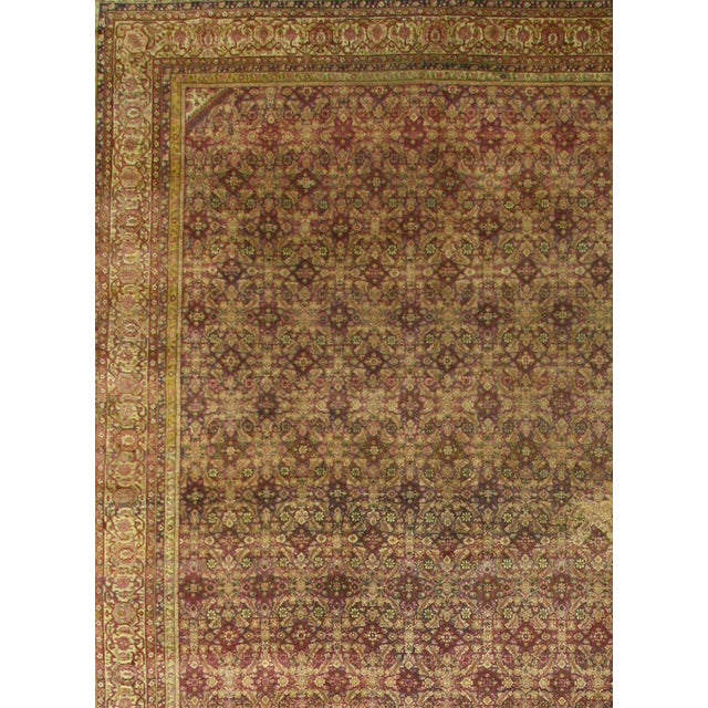 Contemporary Antique Indian Agra Gallery Rug with Modern Style For Sale - Image 3 of 6