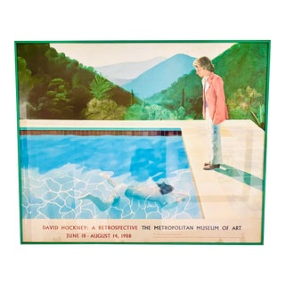 "Original Exhibit Poster ""David Hockney: A Retrospective"" Metropolitan Museum of Art 1988 For Sale"