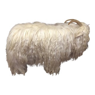 Vintage Mountain Goat With Lambswool For Sale