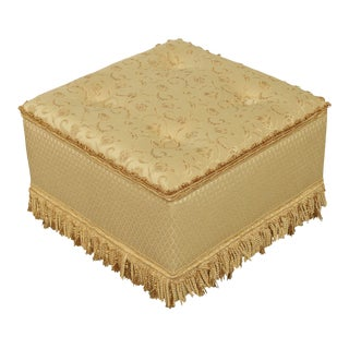 "Custom Upholstered 24"" Square Storage Ottoman For Sale"