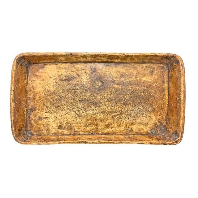 19th Century 19th Century Carved Wood Tray For Sale - Image 5 of 10