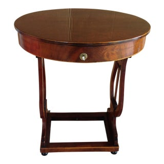 Antique Biedermeier Lyre Table For Sale