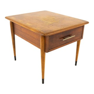 Andre Bus Lane Acclaim Mid Century Commode Side Table With Drawer For Sale