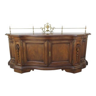 Karges Venetian Sideboard With Full Brass Gallery For Sale