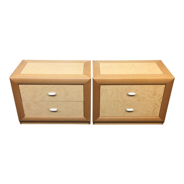 Custom Maple Nightstands - A Pair - Image 1 of 10