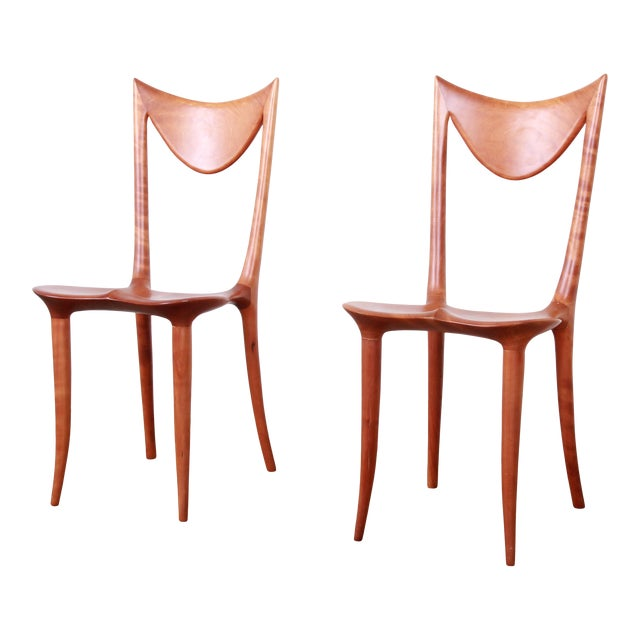"Oskar Kogoj Studio Craftsman Sculptural ""Venetia"" Chairs - a Pair For Sale"
