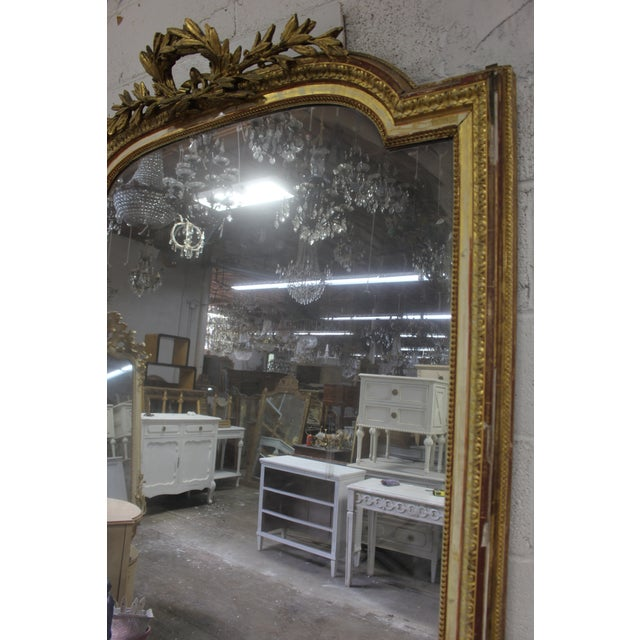Giltwood 18th Century Louis XVI Giltwood Mirror For Sale - Image 7 of 9