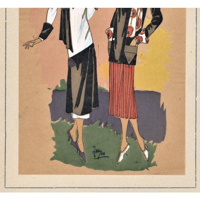 Art deco fashion pochoir chairish for Pochoir deco