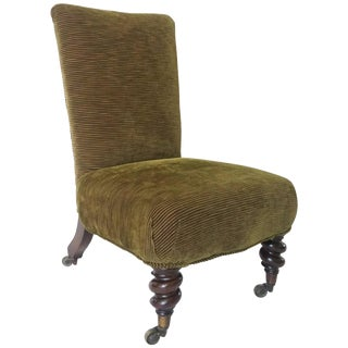 Rosewood Slipper Chair, England, Circa 1840 For Sale
