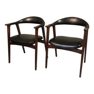 "Mid Century Dining Chairs Office Chairs by ""Thonet"" 1960's Circa - a Pair For Sale"