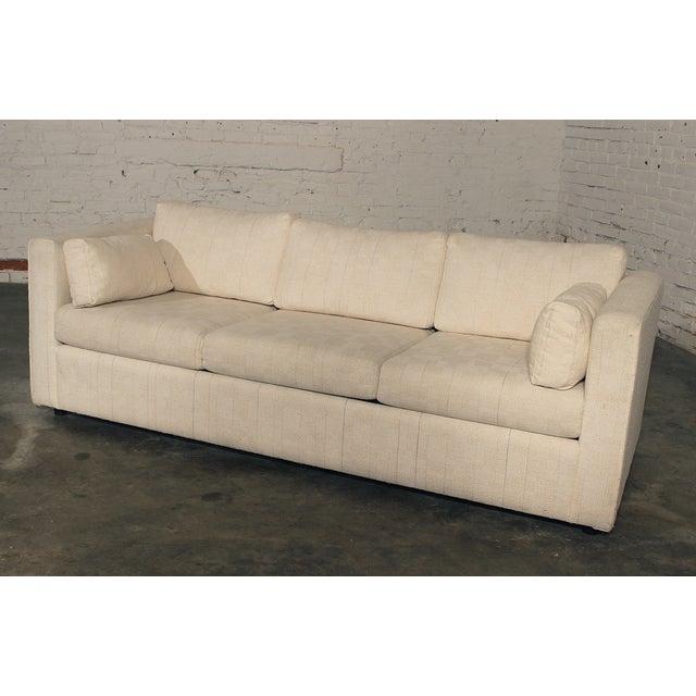 Mid-Century White Tuxedo Style Sleeper Sofa - Image 2 of 7