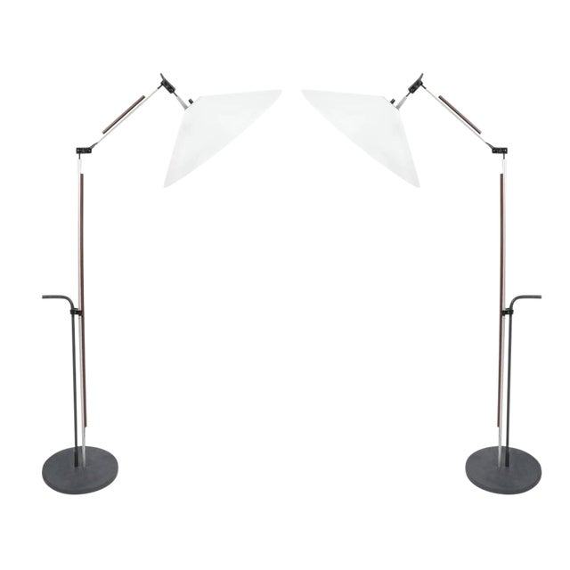 Pair of Aggregato Floor Lamps by Enzo Mari, Circa 1970 For Sale