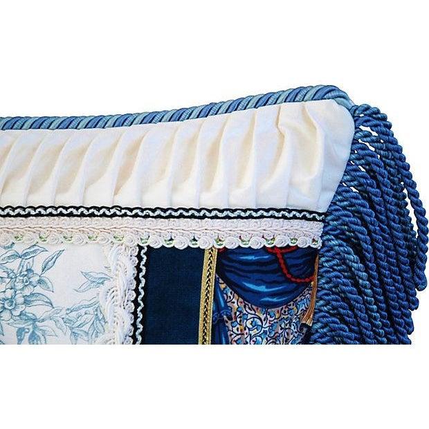 Designer Kravet Blue & White Chinoiserie Pillow - Image 3 of 6