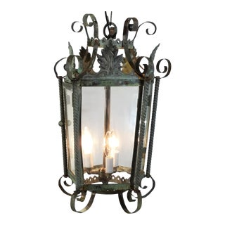 Vintage French Hanging Lantern