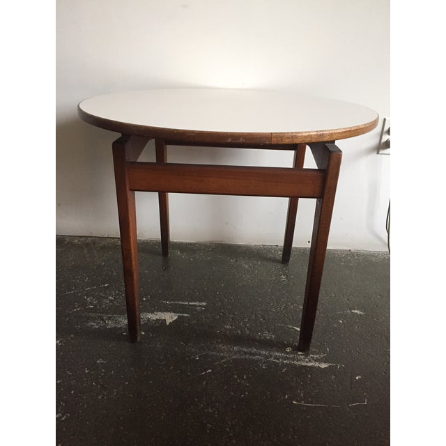 Jens Risom Side Table With White Laminate Top - Image 5 of 6
