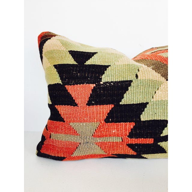 Turkish Kilim Lumbar Pillow - Image 5 of 6