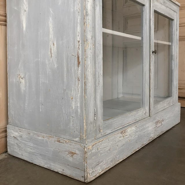 White Antique Swedish Scraped Painted Bookcase For Sale - Image 8 of 13
