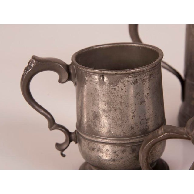 English Pewter Pieces with Maker Stamps Circa 1850 - Set of 11 For Sale In Houston - Image 6 of 11