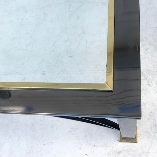 Late 20th Century Vintage Modern Chrome and Glass Coffee Table For Sale - Image 5 of 9