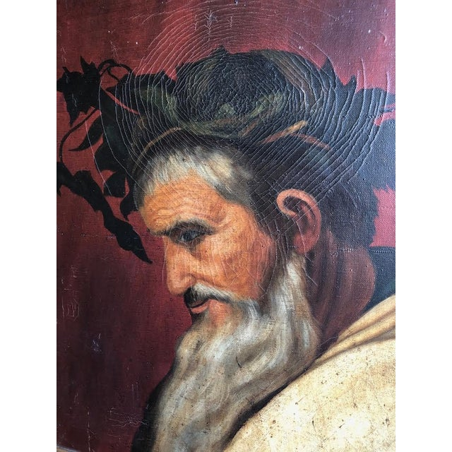 "Portraiture ""Head of Bacchus"" Oil Painting by Ignacio Beller For Sale - Image 3 of 10"