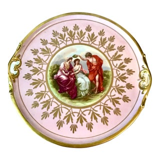 Neoclassical Sevres Hand Decorated Large Charger For Sale