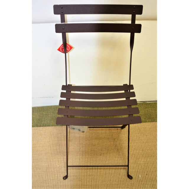 Fermob Fermob Bistro Russet Brown Chair For Sale - Image 4 of 7