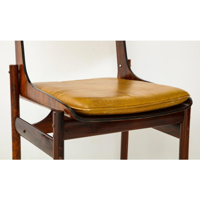 Jacaranda and Leather Dining Chairs From Brazil - Set of 4 For Sale - Image 11 of 13