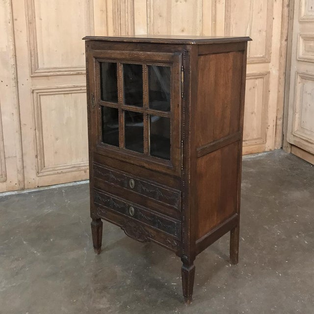 19th Century Country French Louis XVI Vitrine For Sale - Image 4 of 13