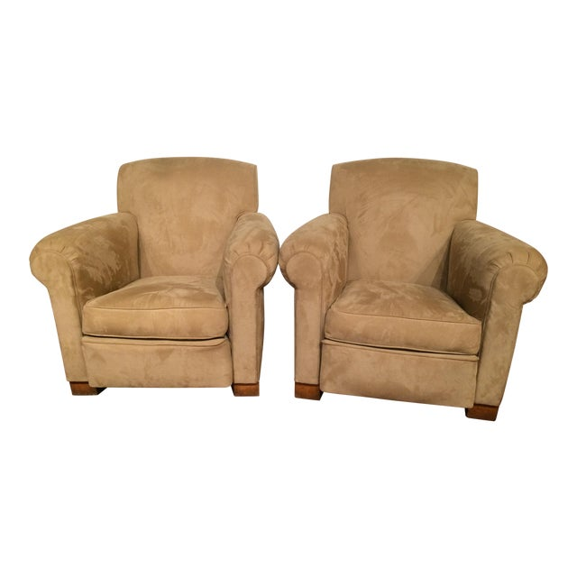 French Art Deco Club Chairs - A Pair For Sale