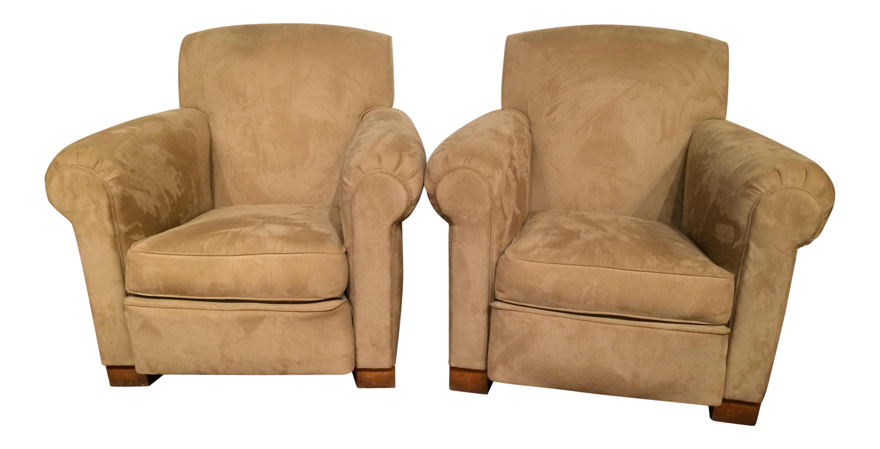 French Art Deco Club Chairs   A Pair