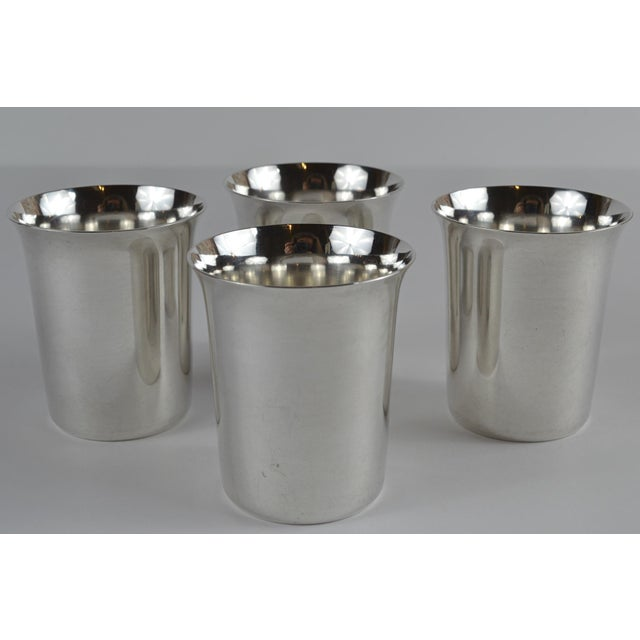 20th Century Sterling Silver Shot Glasses - Set of 4 For Sale - Image 4 of 8